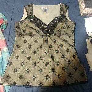Nine & Co Black lace top